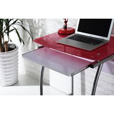 new pink laptop desk table stand notebook computer cart glass top keyboard tray