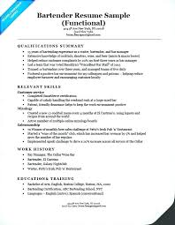 Bartender Resume Sample Gorgeous Bartender Server Resume Samples Examples Sample Manager Letsdeliverco