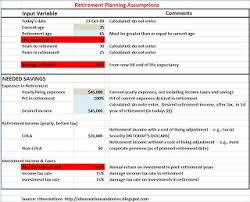 Excel Retirement Calculator Spreadsheet Observations A Retirement Planning Calculator Spreadsheet