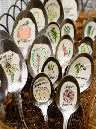 garden labels. A Handful Of Thrift-store Spoons (or Bunch From Your Silverware Drawer If You Just Can\u0027t Wait) Become Playful, Hand-drawn Labels. Don\u0027t Worry About Garden Labels