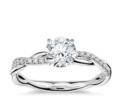 petite twist diamond engagement ring in 14k white gold 1 10 ct