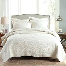 sophisticated beige quilt cover solid quilt set washed cotton quilts embroidered quilted bedspread bed cover sheets
