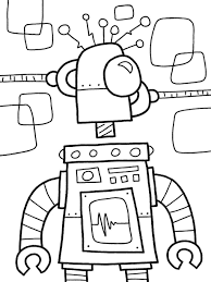 Small Picture Robot Coloring Pages coloringsuitecom