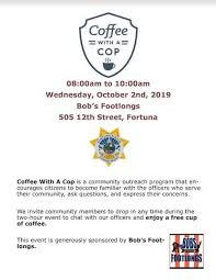 Coffee With A Cop Flyer Sit Down For Coffee With A Cop Next Week In Fortuna