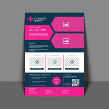 Annual Report Template Design Beauteous Professional Flyer In Pink And Blue Color Corporate Brochure