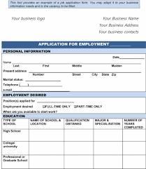 employment applications template 50 free employment job application form templates printable