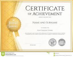 28 Images Of Blank Certificate Of Achievement Template Leseriail Com