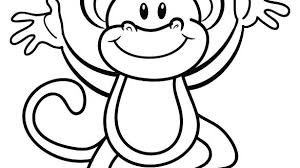 Monkey Coloring Pages Printable Jokingartcom Monkey Coloring Pages
