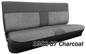 1981 to 1991 chevrolet crew cab truck front seat cover in charcoal