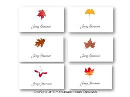 Fall Place Cards Assorted Fall Leaves Place Cards 16 Cards Flat Syle Diy You Edit Ms Word Template Instant Downloads