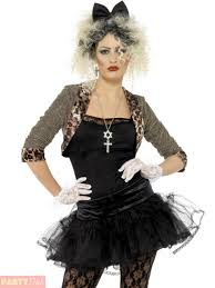 smiffys las wild child madonna 80s pop star fancy dress costume large for