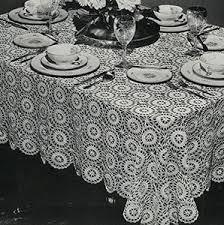 Crochet Tablecloth Pattern Beauteous The Star Wheel Tablecloth Pattern 48 Crochet Patterns