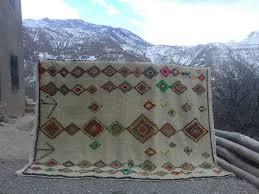 Colored Wool and Cotton Warp Azilal Rug | Fair Trade Morocco Anou & Colored Wool and Cotton Warp Azilal Rug Adamdwight.com