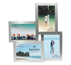 multi aperture collage 4 picture silver photo frame 6 x 4 xmas home decor gift