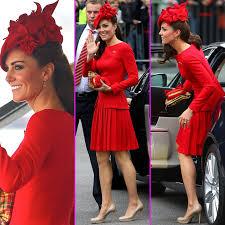 kate middleton, alexander mcqueen, red dress, alexander mcqueen