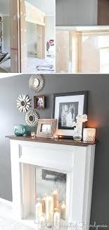faux fireplace ideas and projects decorating your small space fake fireplace decor faux fireplace fake cardboard faux fireplace