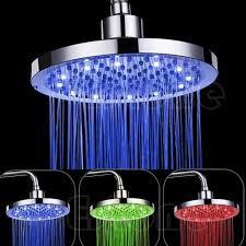 8 inch rgb led light round rain bathroom shower head color changing rgb led shower head led shower head shower head color change with 22 96 piece on