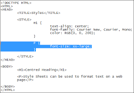 how to change text size font size with css