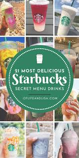 "Shhh! These delicious drinks are found on Starbucks' ""secret menu"". Find  out how to create the… 