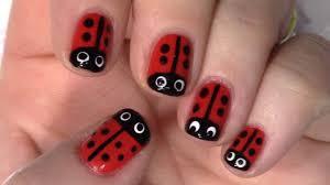 Easy Ladybug Nail Art - YouTube