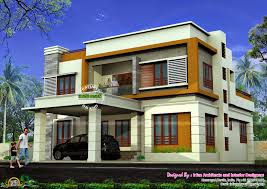 2544 sq ft flat roof 4 bedroom home kerala home design and floor