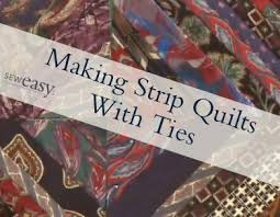 373 best Quilts: From Men's Ties images on Pinterest   Necktie ... & How to Make a Tie Quilt with String Blocks Adamdwight.com