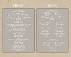 catholic wedding program template format