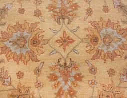 heritage persian oriental traditional handmade wool 8x10 area rug yellow beige