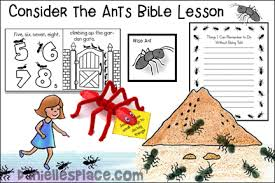 My oldest (age 7) is especially loving it, and it always the one who goes and grabs the book to make sure we get our devotion done. Free Sunday School Lesson Consider The Ants
