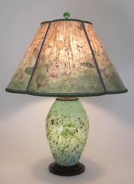 green lamp shades for table lamps t250 lindsay art glass speckled green lamp with lighted base