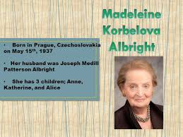 「1997  Madeleine Korbel Albright, first us secretary of states」の画像検索結果