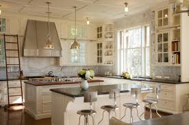 Kitchen Arrangement Picture Of Vintage Kitchen Layout With Classic Cupboards In White