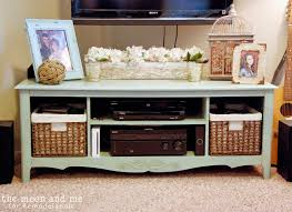 Flat Screen Tv Console Remodelaholic Turn An Entertainment Center Into A Tv Console Table