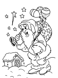 Small Picture Christmas Coloring Pages For Kids Santa Delivering Gifts