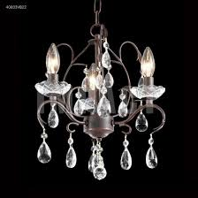 james r moder 40833vb22 mini 3 light crystal chandelier in vintage bronze with imperial crystal clear