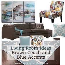 Light Blue And Brown Decor Brown Sectional Sofa Plus Blue Living Room Inspiration