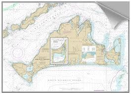 Bluewater Books Charts Decorative Nautical Chart Marthas