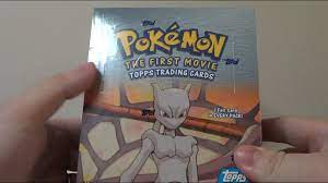 Opening a Pokemon: The First Movie Booster Box (Part 1) - YouTube