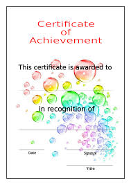 Printable Certificate Of Achievement Free Download Template