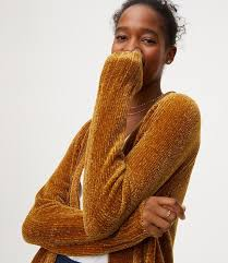 loft chenille open cardigan. thumbnail image of color swatch 7849 chenille open cardigan loft l