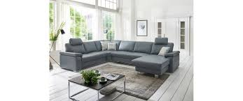 Wohnlandschaft In Leder Grau Interior Design In 2019