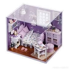 Kids dollhouse furniture Plastic Ecosin 3d Handmade Mini Dollhouse Furniture Diy Kit With Led Light For Kids Grils Princess House Ebay Ecosin 3d Handmade Mini Dollhouse Furniture Diy Kit With Led Light