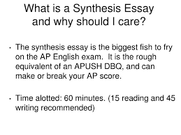 ppt apush dbq vs ap language synthesis essay powerpoint what is a synthesis essay and why should i care