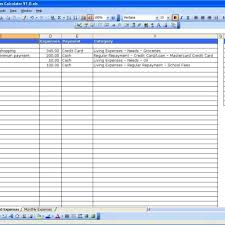finances excel template household expenses excel templates for list of monthly expenses