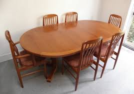 scandinavian teak dining room furniture round teak dining table and chairs dining room ideas