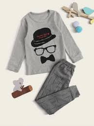 Shein Baby Clothes Size Chart Toddler Boys Cartoon Graphic Pj Set