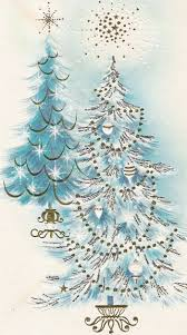 vintage decor clic: i have quite an extensive vintage christmas card collection and i pulled a few of the pinks and blues to share with you today you can clic