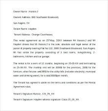 Rent Agreement Letter Details Tenancy Agreement Letter From Landlord