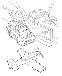 Disney Planes Dusty Coloring Pages Printablepics
