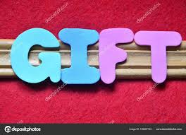 The Word Gift The Word Gift On A Abstract Stock Photo Czany 169287164